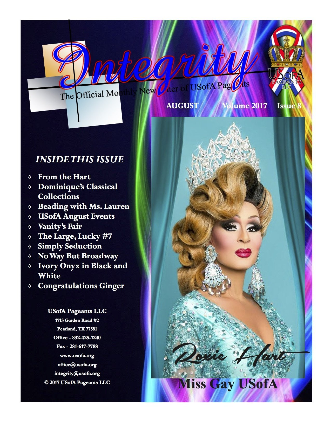 USofA Pageants Integrity Newsletter August 2017