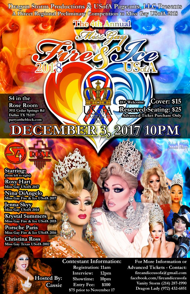 Miss Gay Fire & Ice USofA 2018 poster 2