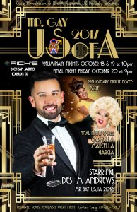 Mr Gay USofA 2017 poster